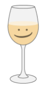 illustration of a wine glass with white wine