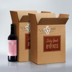 Jolly Good Boxes with twelve bottles of wine