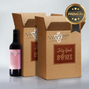 Jolly Good Boxes with twelve bottles of premium wine