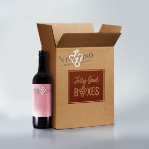 Jolly Good Boxes with six bottles of wine